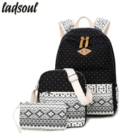 Ladsoul Canvas Women Backpack Good Quality School Backpacks For Teenage Girls Famous Brands Students Travel Backpacks