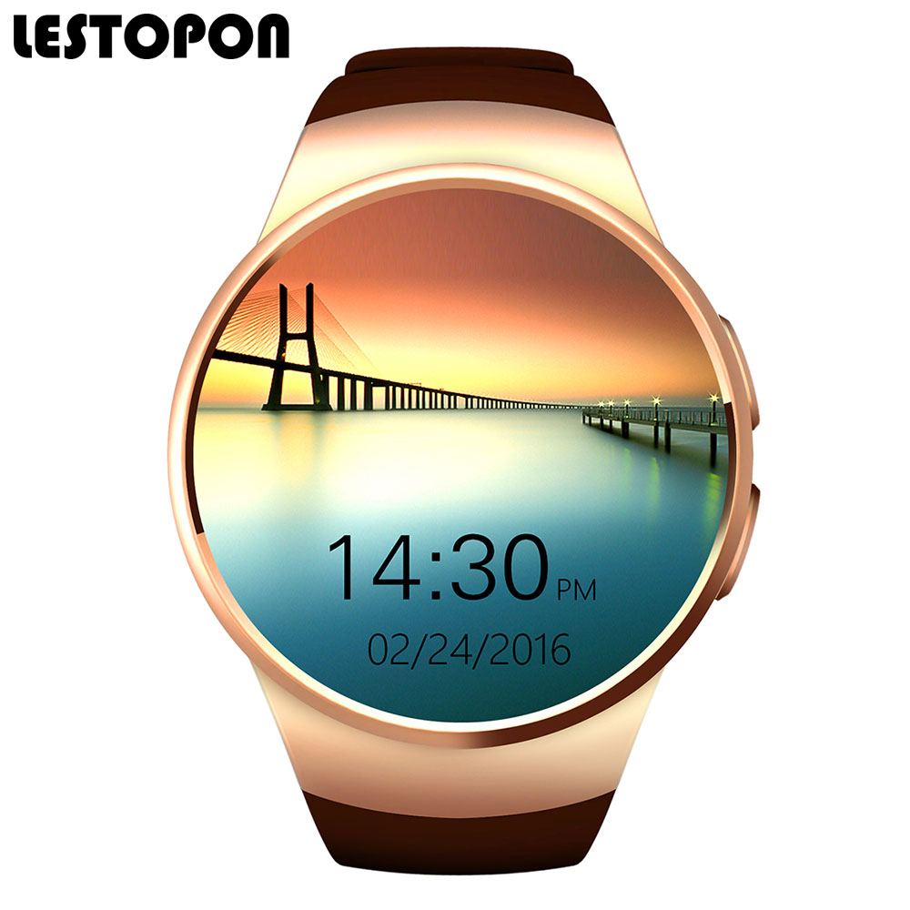 "LESTOPON Smartwatch Wearable Devices Clock 1.30"" inch OGS Screen 128M+64M Bluetooth Smart Watch"