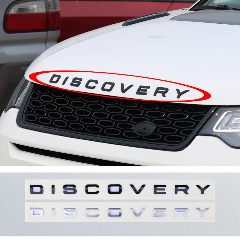 Car Styling 3D Letters Stickers for Land Rover Discovery Sport Hood Trunk Tailgate Emblem Badge Car Emblem Cover Sticker for land rover tdv6 discovery 3 4 range rover sport oil pump lr013487
