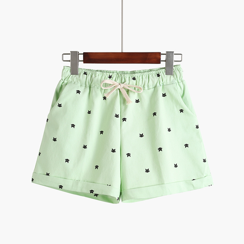 dfd5fc684 DANJEANER 2018 New Cotton Women's Casual Shorts home style cat's head candy  colored Shorts-in Shorts from Women's Clothing & Accessories on  Aliexpress.com ...
