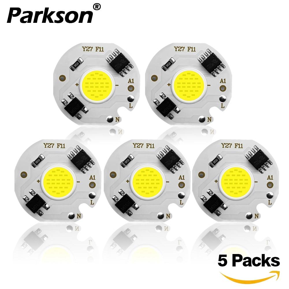 5pcs COB LED Lamp Chip 220V 240V IP65 Smart IC No Driver Ampoule LED Bulb Flood Light Spotlight 3W 5W 7W 10W 12W Diy Lighting