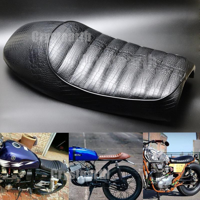 Motorcycle Cafe Racer Seat Retro Hump Custom Vintage Saddle Cushion For Suzuki Yamaha XJR XS XT225 RX135 Honda CB CL Kawasaki KZ handlebar grips rearview side mirror motorcycle mirror for yamaha mt09 mt07 mt 09 07 xj6 fjr xjr 1300 racer fazer xt 600 tdm 900