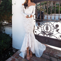 Formal White Lace Floor Length Dresses Sweetheart Sexy Wear Mermaid Elegant Prom Party Special Occasion Dress Gowns