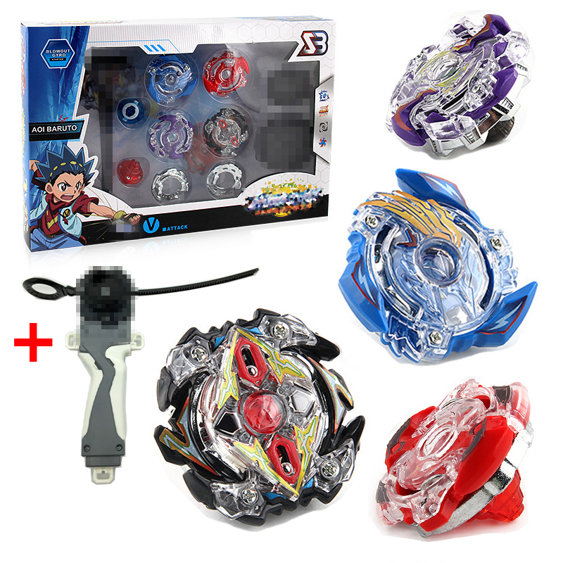 4pcs/set Beyblade Metal Funsion 4D B34 B35 B41 B59 With Launcher And Handle Spinning Top Classic Toy Fighting Gyro