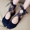 Женский Ремень скольжения носки сладкий принцесса плоские туфли невидимые носки Танцевальные носки лодки