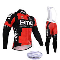 Men Cyclisme Equipe Bmc Team MTB Cycling Clothing Bike Bicycle Clothes Winter Thermal Fleece Long Sleeves