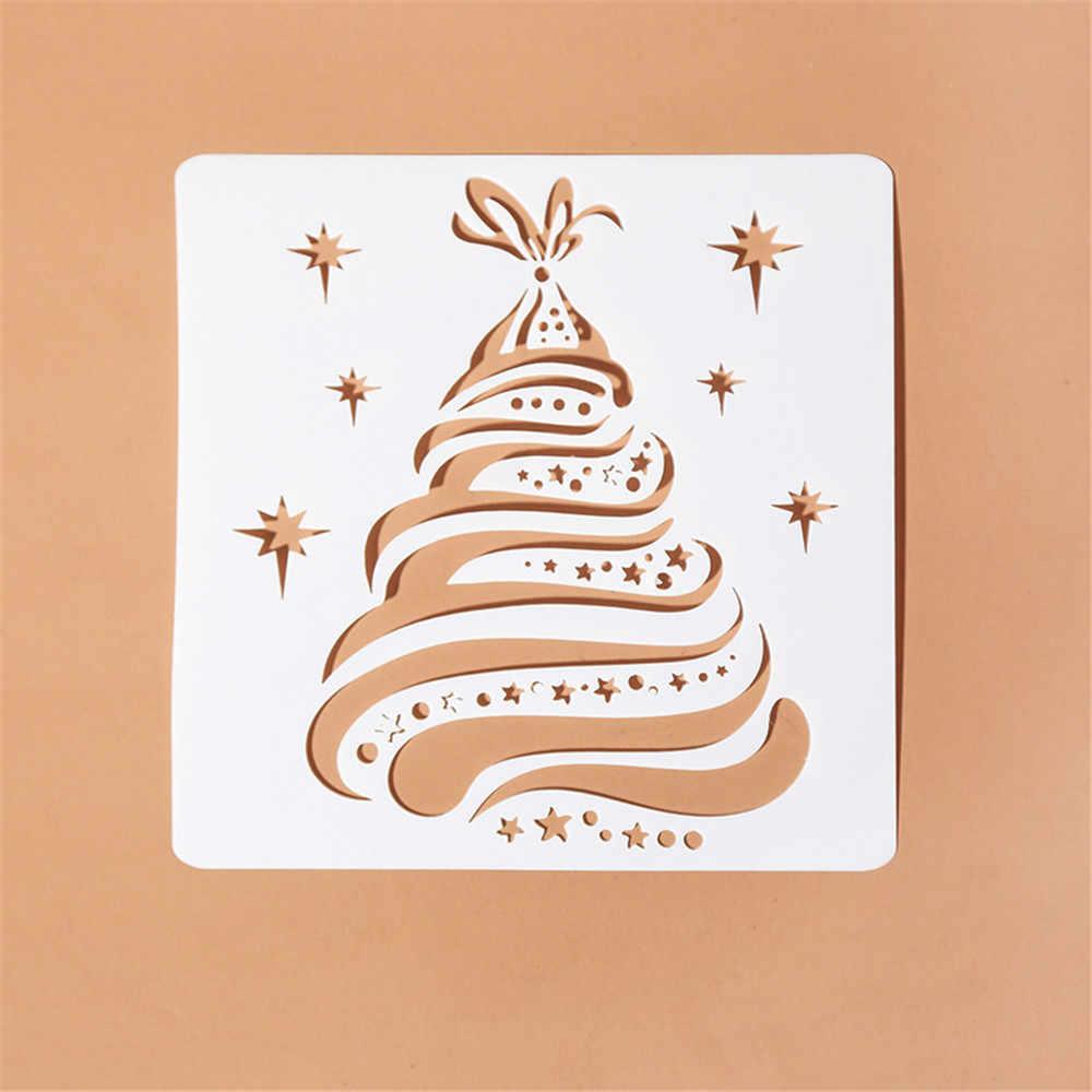 1 pieza DIY manualidades estacas de Navidad para paredes pintadas sello álbum decoración de fotos Plantilla de tarjetas de papel en relieve