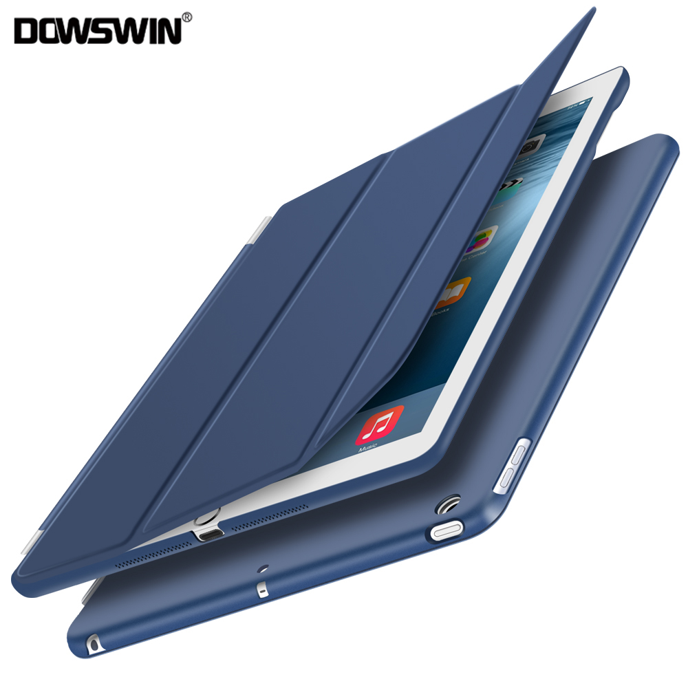 Case for ipad 9.7 2017, for new ipad 9.7 2018 smart cover PU leather flip case with matte transparent pc back cover ultra slim smart case for ipad mini 4 case transformer folding with stand slim pu leather transparent back cover for ipad mini4 7 9
