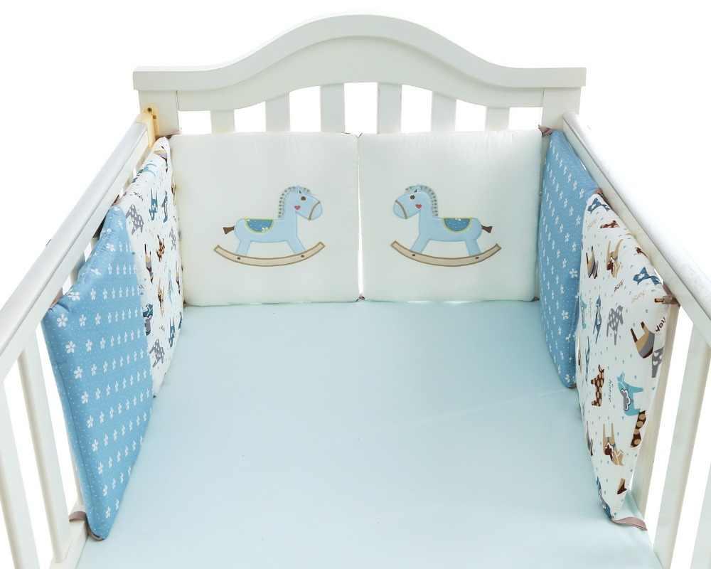 6 шт./компл. Маленькая деревянная лошадь шаблон детская кроватка бампер детские постельные принадлежности набор кроватка для новорожденного 100% хлопок кровать бортики для кроватки Бесплатная доставка