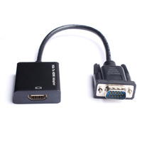 Lndacke Active VGA To HDMI Converter Cable Adapter With Audio 1080P For PC Laptop To HDTV