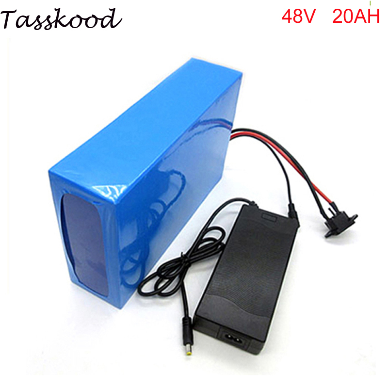 electric bike battery 48V 20Ah ebike Lithium ion Battery for Electric Scooter Bike Bicycle Golf Cart Car fit 48v 1000w bafang 48v 20ah triangle electric bicycle lithium battery pack 48v 1000w e bike li ion battery