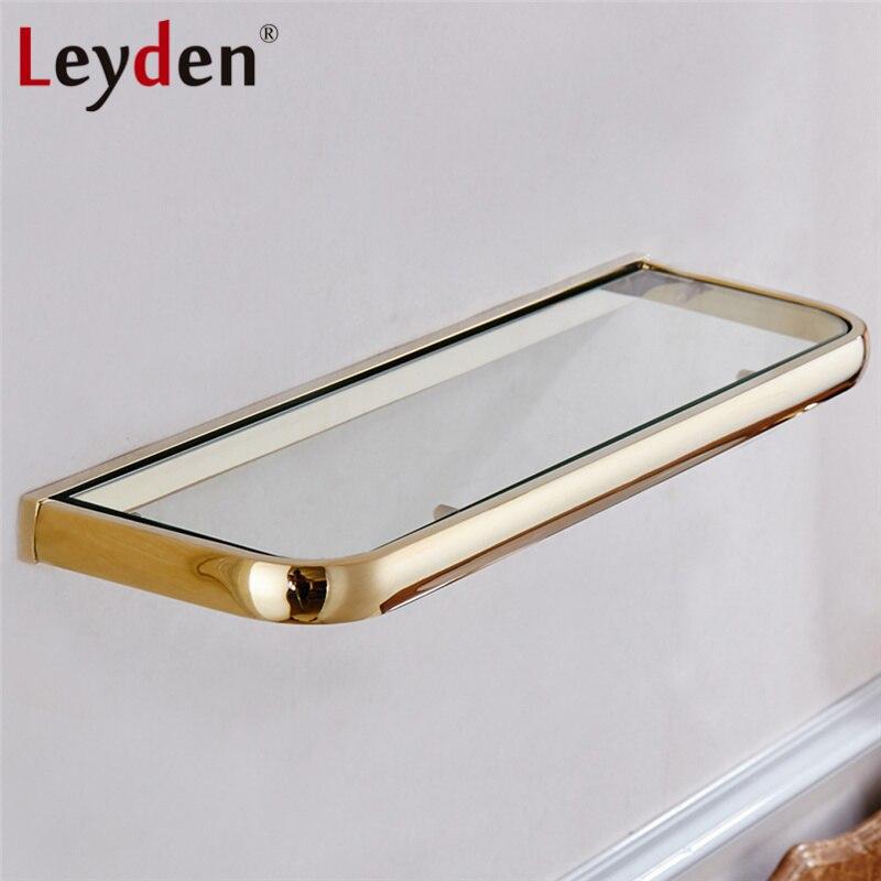 Leyden Hot Glass Shelf Rack Bath Shelf ORB/ Antique Brass/ Gold ...