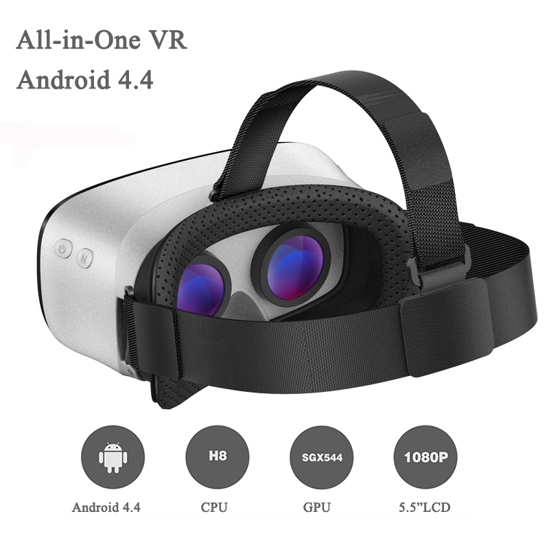 Hot V3 <font><b>All</b></font> <font><b>In</b></font> <font><b>One</b></font> <font><b>Headset</b></font> <font><b>Allwinner</b></font> H8VR <font><b>Octa</b></font> Core 5.5 Inches 1080P FHD Display VR Immersive 3D Glasses Virtual Reality <font><b>Headset</b></font>