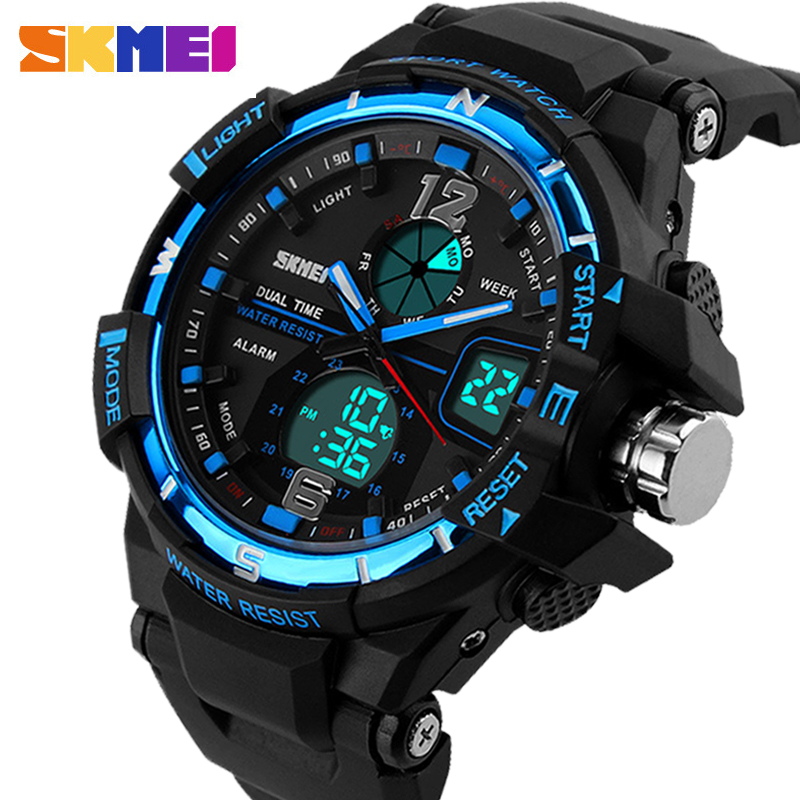 2016G SKMEI Estilo Moda Digital-Reloj Para Hombre Relojes Deportivos Reloj Militar Del Ejército Erkek Choque Resistir Saat Reloj de Cuarzo reloj