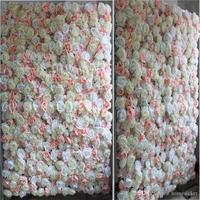 Wedding 3D flower wall flower runner wedding Artificial silk rose peony wedding backdrop decoration Mixcolor