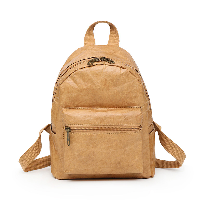 HOBBAGGO Women Men Backpack Shoulder Bag Foldable Waterproof Zipper Kraft Paper Durable Gift  New Сумка