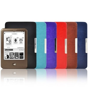 Flip leather cover for e-book Reader For Tolino Shine 1 e book reader 6 inch case Free shipping(China)