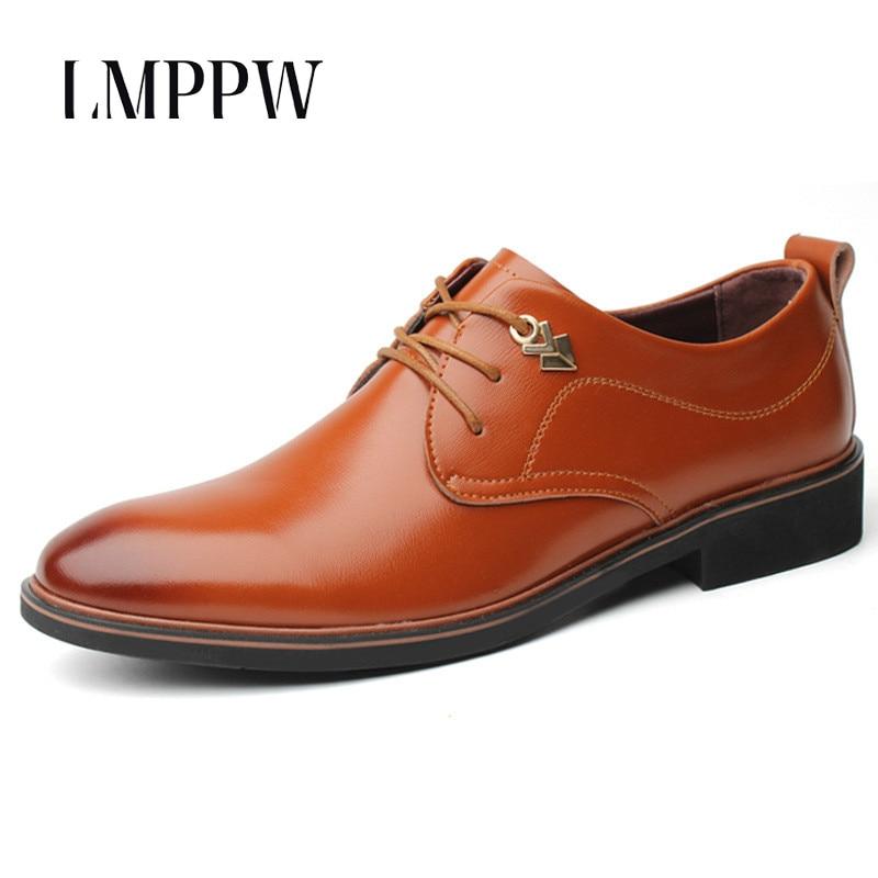 Homem Clássico Oxford Moda 2018 Sapatos preto Dos Formais Brown Luxo Apontou Novos Couro Homens Casuais Cavalheiro De Negócios 2a 07pz6nCq7