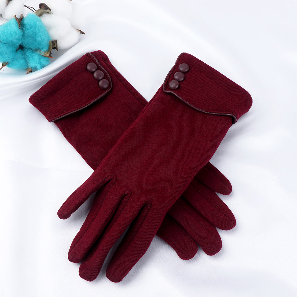 Ladies Touch Screen Wrist Gloves Thickening Warm Autumn Winter Gloves Female Ball Touch Screen Mittens Gift