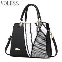 Brand Fashion Women Tote Bag High Quality Pu Leather Ladies Patchwork Bag Luxury Female Handbag Women