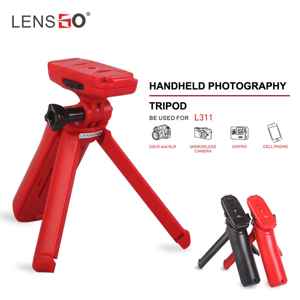 Compact Lightweight Multi-Functional Tripod Mini Portable Lightweight Micro Gimbal Stand red
