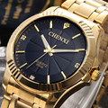 Роскошные Полные Золотые Часы Мужские Часы Лучший Бренд Моды Водонепроницаемый Кварцевые часы Стали Наручные часы для Мужчин relojes hombre 2017