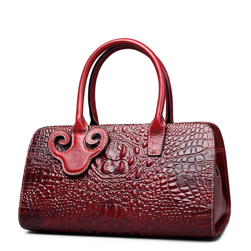QISU Fashion Women Embossed Crocodile handbags a single shoulder strap women bag with silt pocket недорго, оригинальная цена