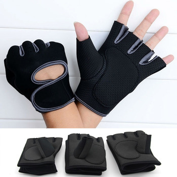 цена на Cycling Gloves Half Finger Bike Gloves Shockproof Breathable Mountain Bicycle Gloves Men Sports Cycling Clothings