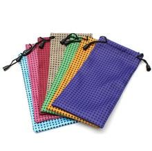 100 Stks/partij Diy Horloge Telefoon Bril Case Soft Waterdicht Doek Zonnebril Bag Bril Pouch Brillen Gevallen Gemengde Kleuren