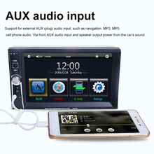 """7"""" HD Car Stereo Audio MP3 MP5 Player FM Radio of Digital Touch Screen Support Phone / Tablet Connected GPS + Rear View Camera"""