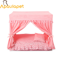 apaulapet-disassembly-summer-court-kennel-dog-nest-puppy-cat-house-bed-pet-dog-bed-with-curtain-camas-de-perro