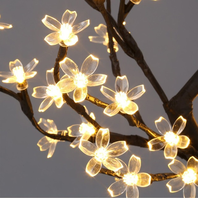 Bedside Home Led Cherry Blossom Ball Tree Lotus Night Light Table