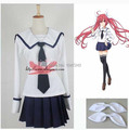 Japan Japanese School Uniform DATE A LIVE  Cosplay Costume Anime Girl Maid Sailor Lolita Dress Striped Blue
