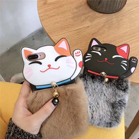 Lovely 3D Money Cats Leopard Soft Silicone Mobile Phone Cases For IPhoneX 8 8Plus Protective Shell
