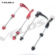 Velosa novatec liga qr, 1 par de espetos de bicicleta ultraleve de liberação rápida para mtb e bicicleta de estrada