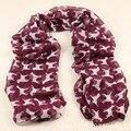 2015 Новый Модный бренд зимний шарф Милый щенок шаблон мода шарф женщин платки и шарфы Зима Теплая Шелковый Шарф 7 цвета