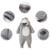 Modelos de invierno Batas Del Bebé Ropa de Bebé Con Capucha Desmontable de Algodón Gruesa Capa Caliente Fuera ATLL0066