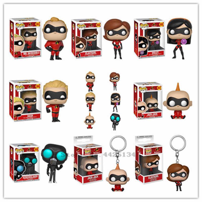 The Incredibles2 - Funko Pop Hercules - Bullet สาว - แจ็ค - สีม่วง - Scud Action Figure สะสม star Action ภาพ toy