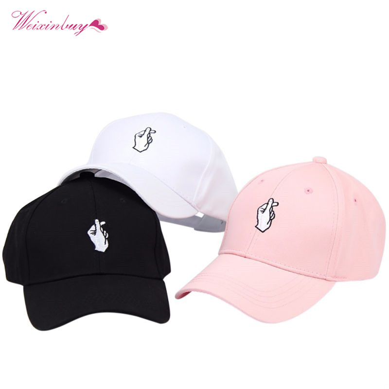 Love Gestures Finger Embroider Golf Baseball Cap men women Hats Finger Little Heart Love Sun-proof Truck Hat Fashion Golf Caps aetrue winter knitted hat beanie men scarf skullies beanies winter hats for women men caps gorras bonnet mask brand hats 2018