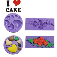 Heart fondant cake decorating tools Rose cake decorating tools soap mold cupcake FA-306&FA-233, From i cake mold/mould