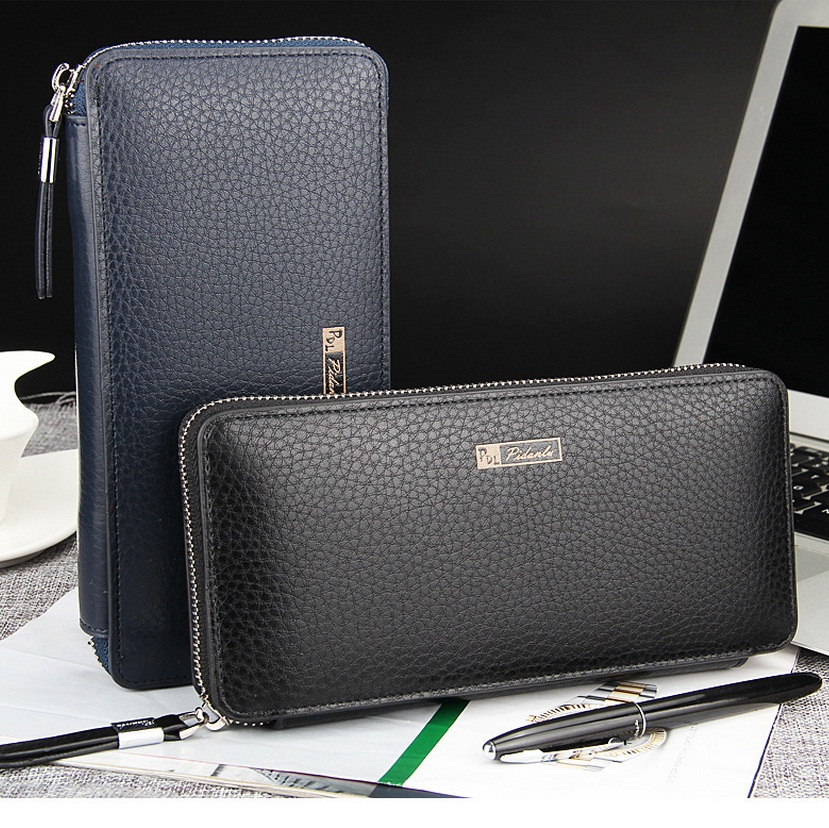 2015 baellerry newest men's business casual multifunction zipper long clutch wallets free shipping 1382