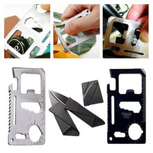 Metal Outdoor Sports Pocket Card Knife Bottle Opener Keychain Keyring Ruler Saw Spanner Sales Promotion Gift(China)