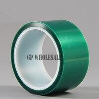 1x 230mm 33 Meters 0 06mm Green PET Film Tape High Temperature Resistant For PCB Plating