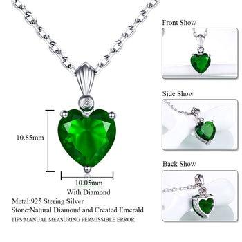 839af80ccf52 DOUBLE-R de Plata de Ley 925 Collar de plata Esmeralda colgante de zafiro  joyería de rubí corazón collares y colgantes para las mujeres de plata 925
