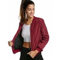 Long Sleeve Spring Autumn Women Basic Coat Bomber Baseball Pilot Jacket Female Outerwear Suit Lady Clothing