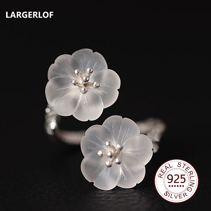 LARGERLOF 925 Sterling Silver Crystal Ring Women Fine Jewelry 925 Silver Jewelry Rings For Women RG491121 sonex pagri 4262