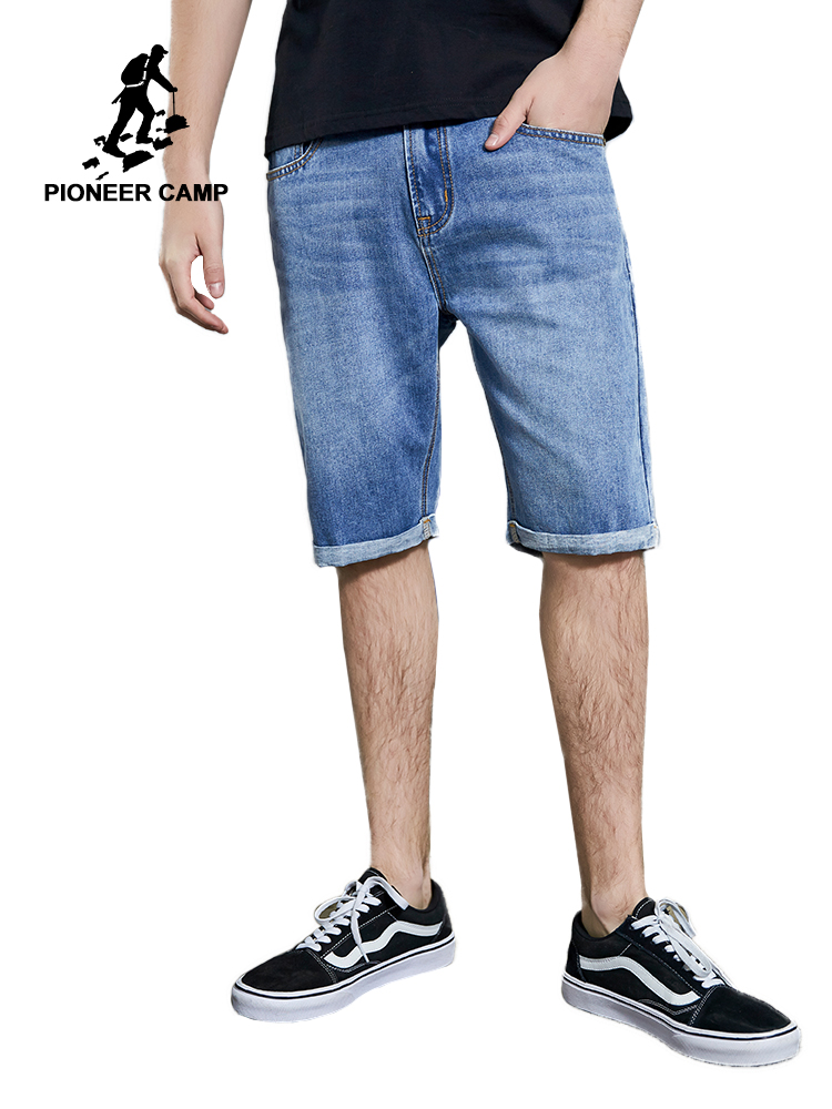 Pioneer Camp 2019 Summer New Men's Stretch Short   Jeans   Fashion Casual Slim Fit High Quality Denim Shorts Male Clothes ANZ908071