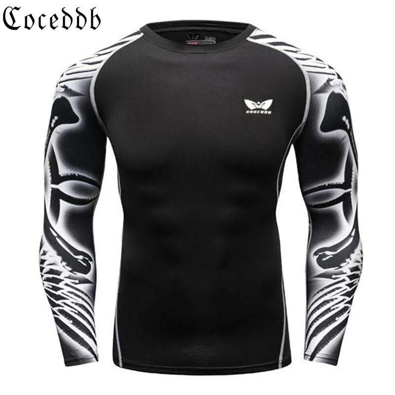 Muscle Men Compression Tight T-särk pikkade varrukatega Double Sides - Meeste riided - Foto 4
