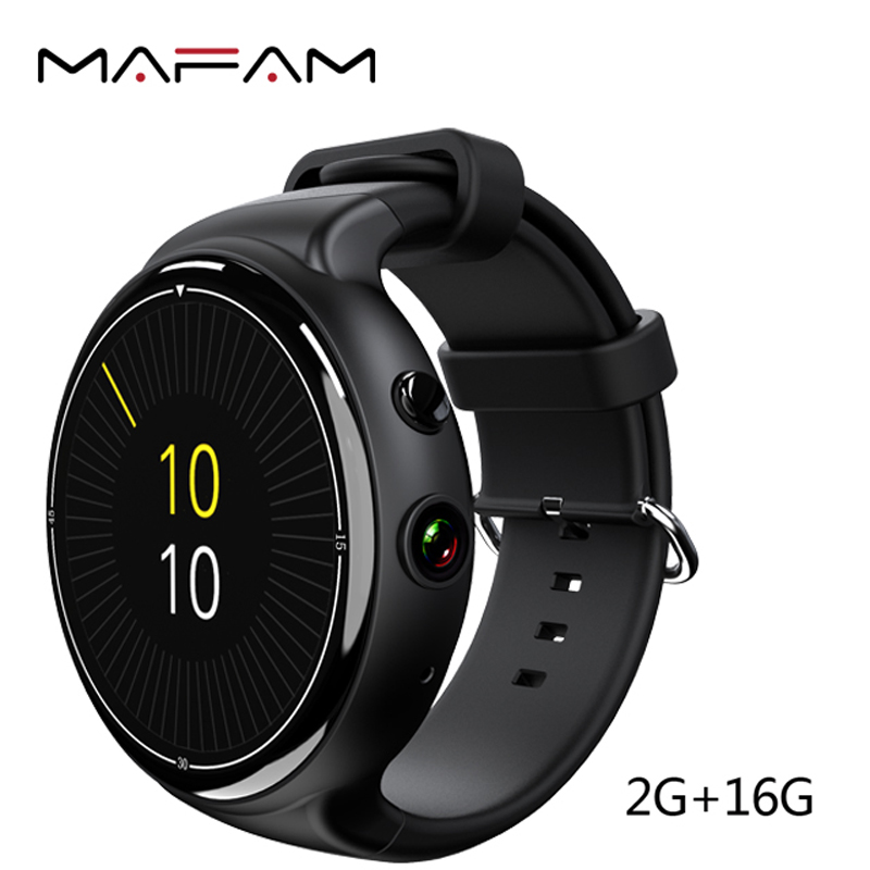 MAFAM I4 Air 3G Smart Watch 2GB 16GB 2MP Android 5.1 MTK6580 Quad Core Heart Rate Monitor Tracker Bluetooth WIFI GPS Smartwatch 2017 new finow x5 air smart watch android 5 1 2gb 16gb wifi 3g gps heart rate monitor bluetooth 4 0 smartwatches pk lem5 watch