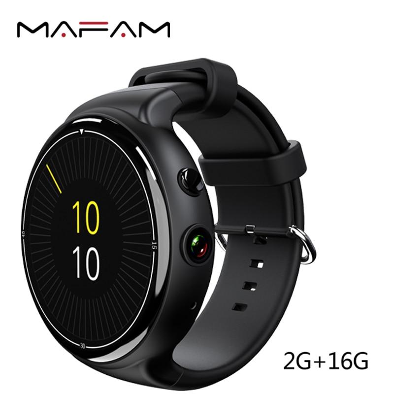 MAFAM I4 Air 3G Smart Watch 2GB 16GB 2MP Android 5.1 MTK6580 Quad Core Heart Rate Monitor Tracker Bluetooth WIFI GPS Smartwatch цена